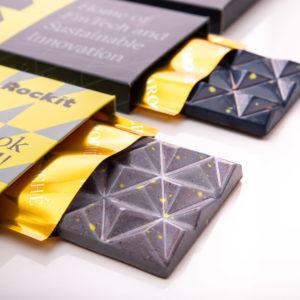 Rockit Vilnius rebranding projektas, Specialiai gaminti larochešokoladai: pieniškas ir tamsusis